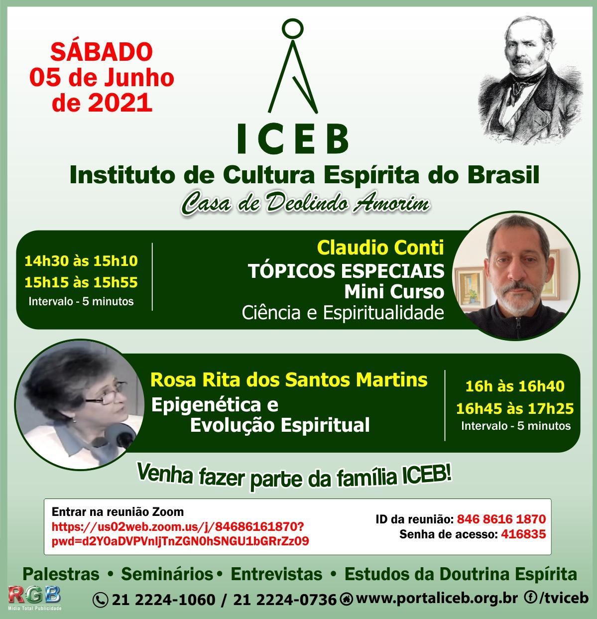 Aula com Claudio Conti e Rosa Martins – 05 de Junho
